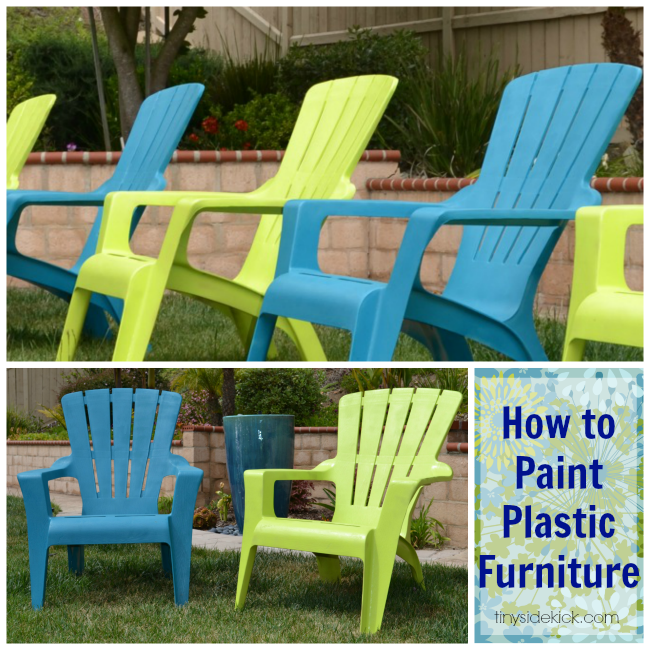 See How I Painted Plastic Outdoor Chairs Painting Plastic Painting Plastic Furniture And Backyard