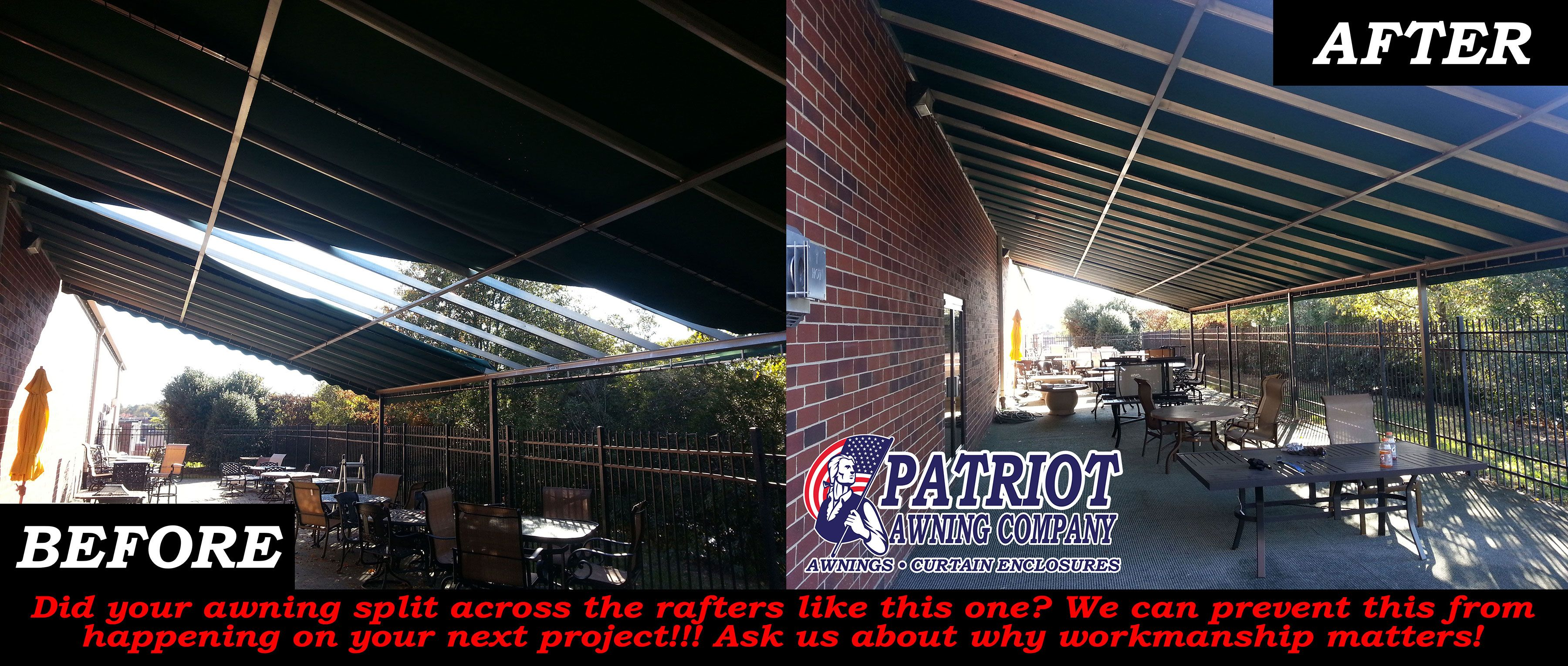This Is The Firehouse Casual Living Store In Pineville. We Recovered This  Awning After The