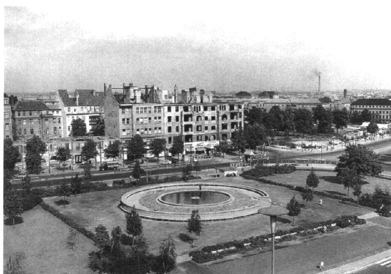 1954 west berlin reichskanzlerplatz heute theodor heuss platz berlin. Black Bedroom Furniture Sets. Home Design Ideas