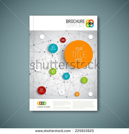 Modern Vector abstract brochure, report or flyer design template - free report cover page template