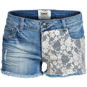 ONLY Claudi Denim Lace Shorts Sfr-S102