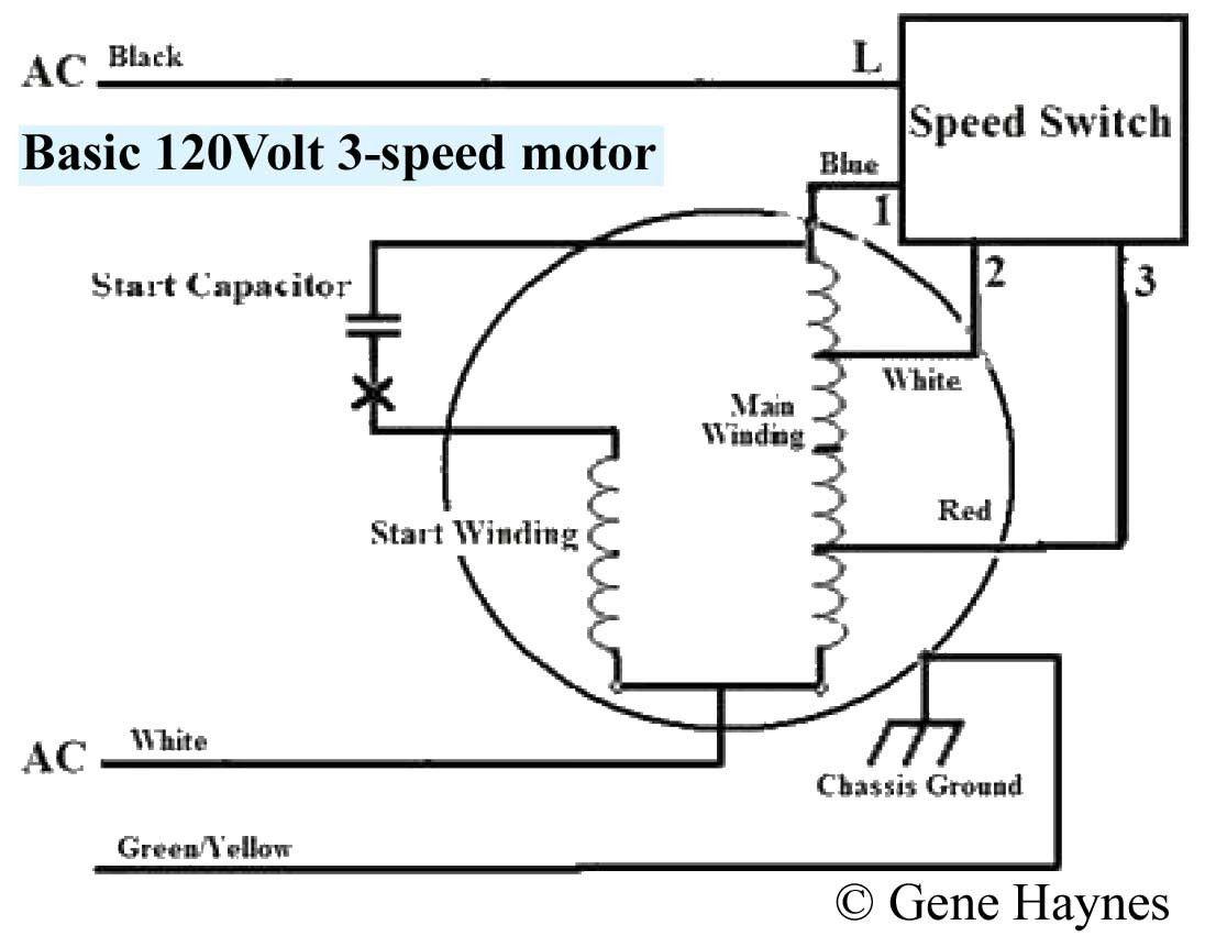3 Speed Fan Motor Wiring Diagram in 2020   Ceiling fan switch, Ceiling fan  wiring, Fan motorPinterest
