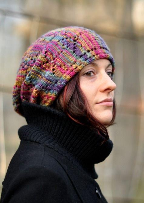 Woolly Wormhead - Ziggy - knitting pattern for sideways slouchy Hat ...