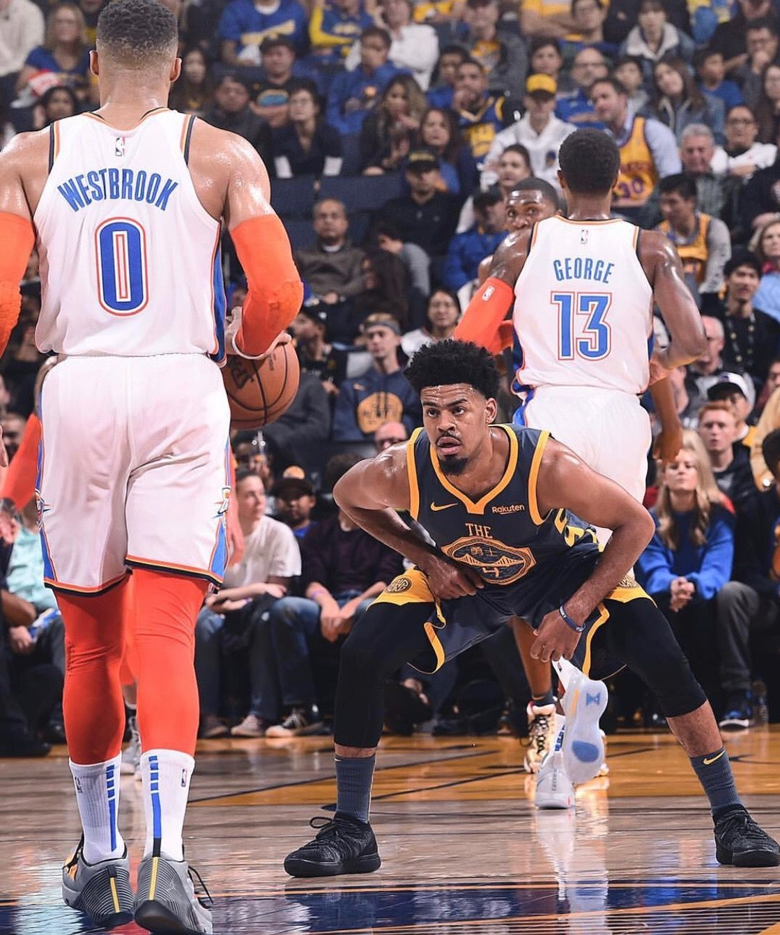Quinn Cook Of The Golden State Warriors During The Game Against The Oklahoma City Thunder On November 21 2018 Oklahoma City Thunder Golden State Warriors Quinn