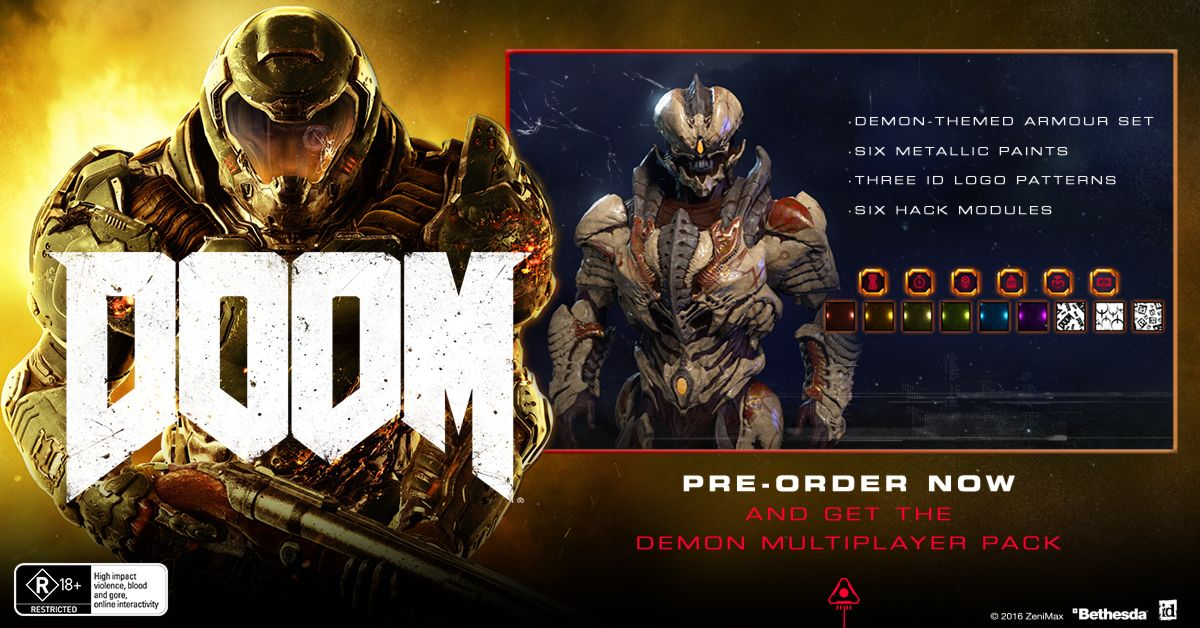 DOOM UAC Pack - EB Games Australia | Birthday Gift Ideas