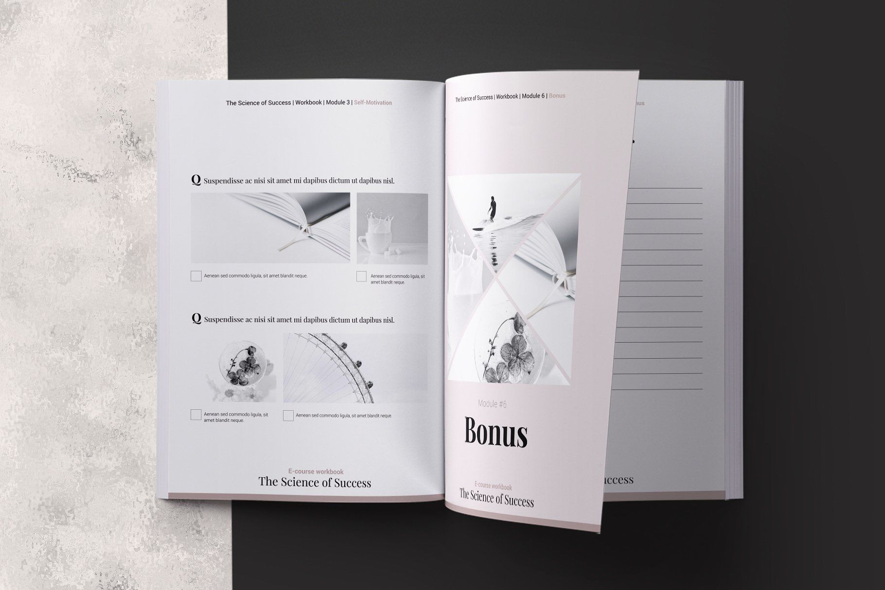 E Course Workbook Indesign Template Worksheet Pages
