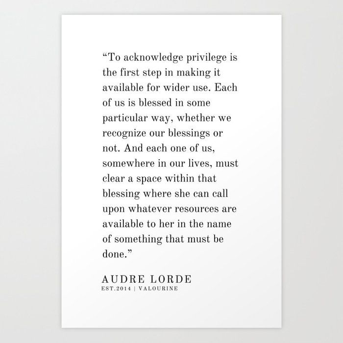 50   | Audre Lorde |Audre Lorde Quotes | 200621 | Black Excellence Art Print by Quotes And Sayings