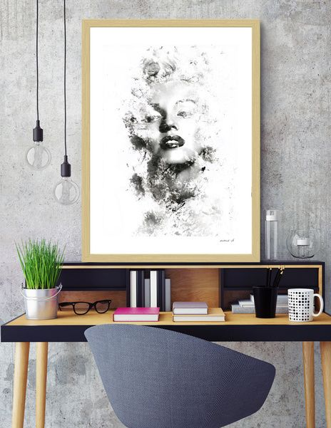 Discover «Smudges (Marlin Monroe)», Numbered Edition Fine Art Print by Kalliroh Sk - From 18€ - Curioos