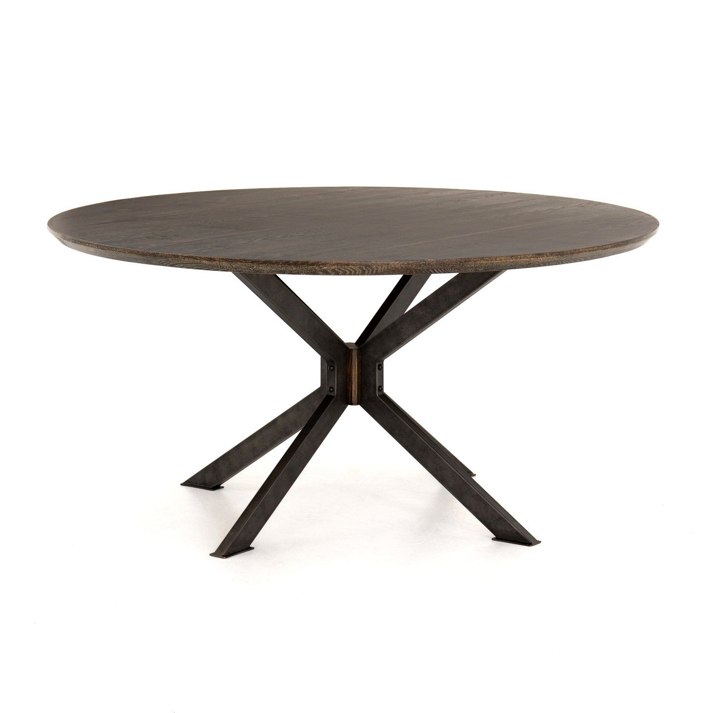 Spider Round Dining Table English Brown Oak Round Dining Table