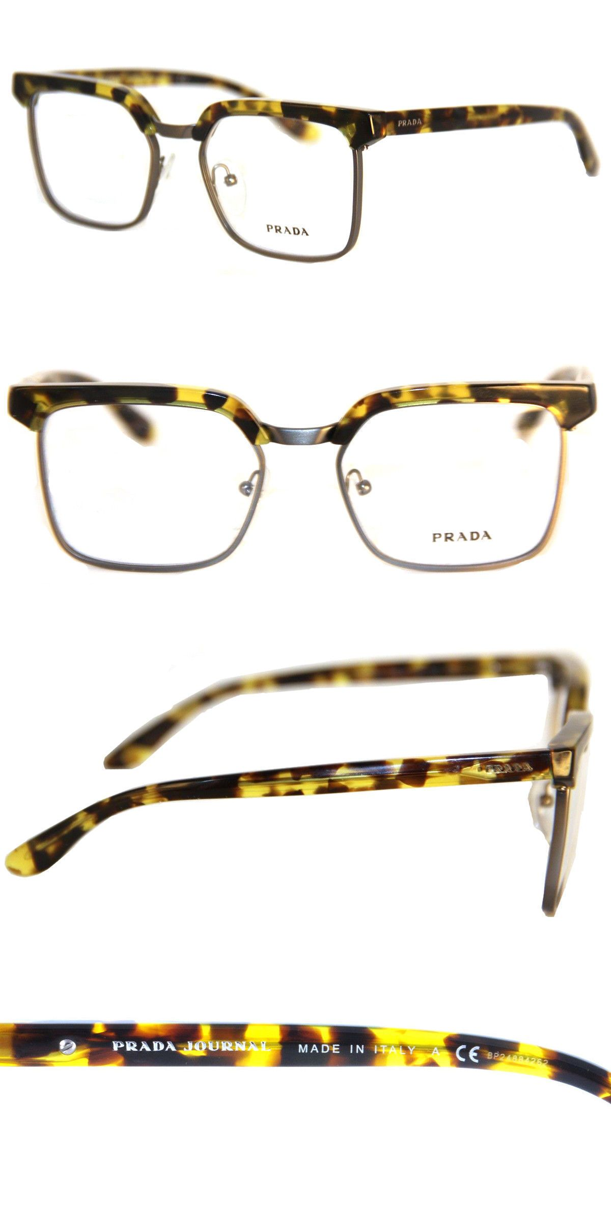 4cd4b2f1a75 Eyeglass Frames 180957  Prada Vpr 15S Optical Frame Authentic Unisex Havana  Ubl-101 Eyeglasses