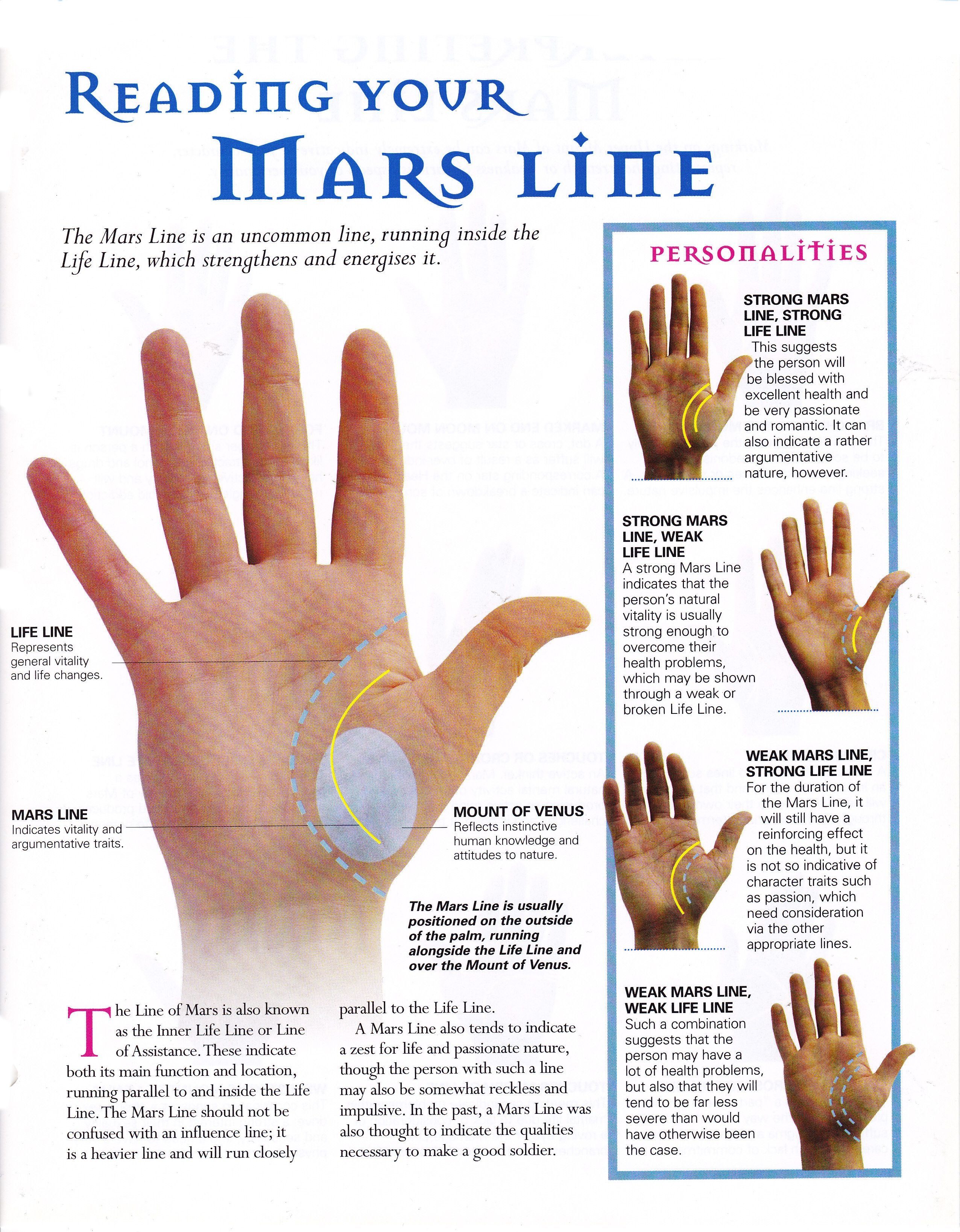 Reading your mars line … | Palmistry reading, Palm reading, Palmistry