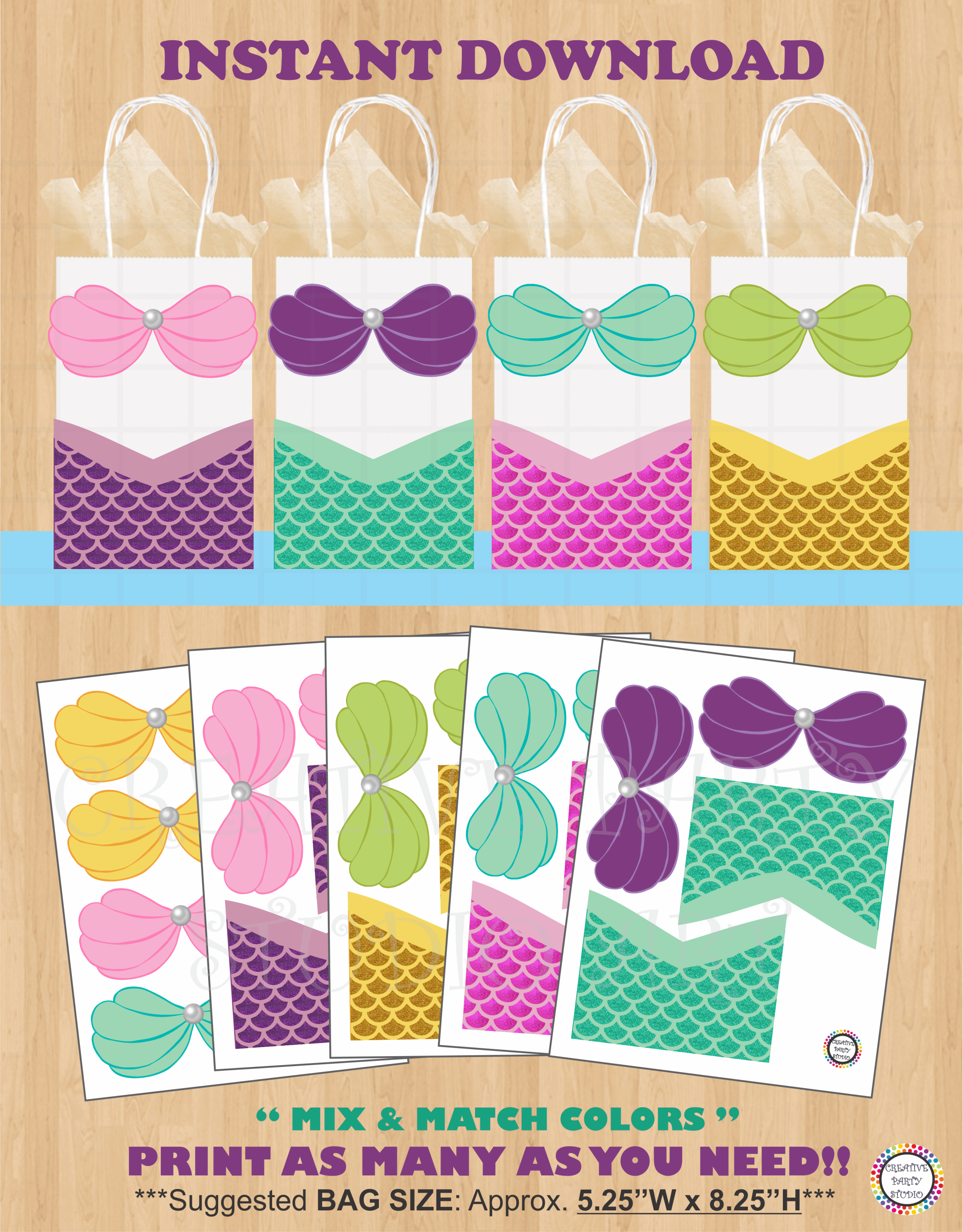 Mermaid Gift Ideas Mermaid Favor Bags Mermaid Party Mermaid Birthday