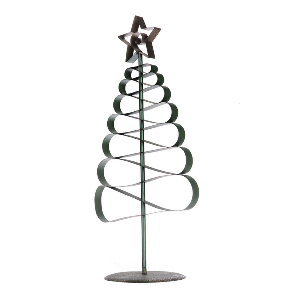 A&B Home Christmas Decor Metal Ribbon Tree - Set Of 2
