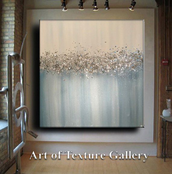 Glitter Large Abstract Painting Original Texture Modern