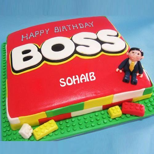 Write Name On Happy Birthday Boss Cake Picture Happy Birthday