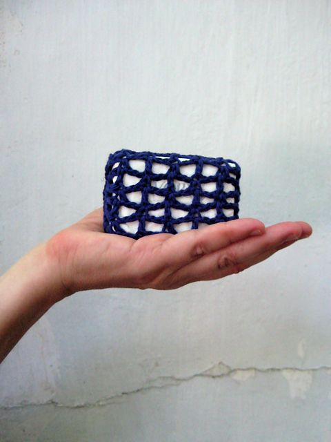 Ravelry: Crochet Soap Holder pattern, 3.5mm. like this, and maybe I ...
