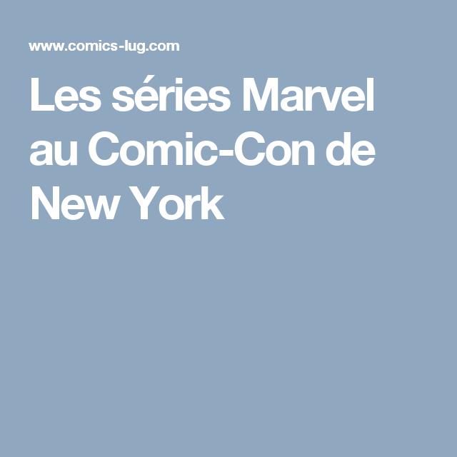 Les séries Marvel au Comic-Con de New York