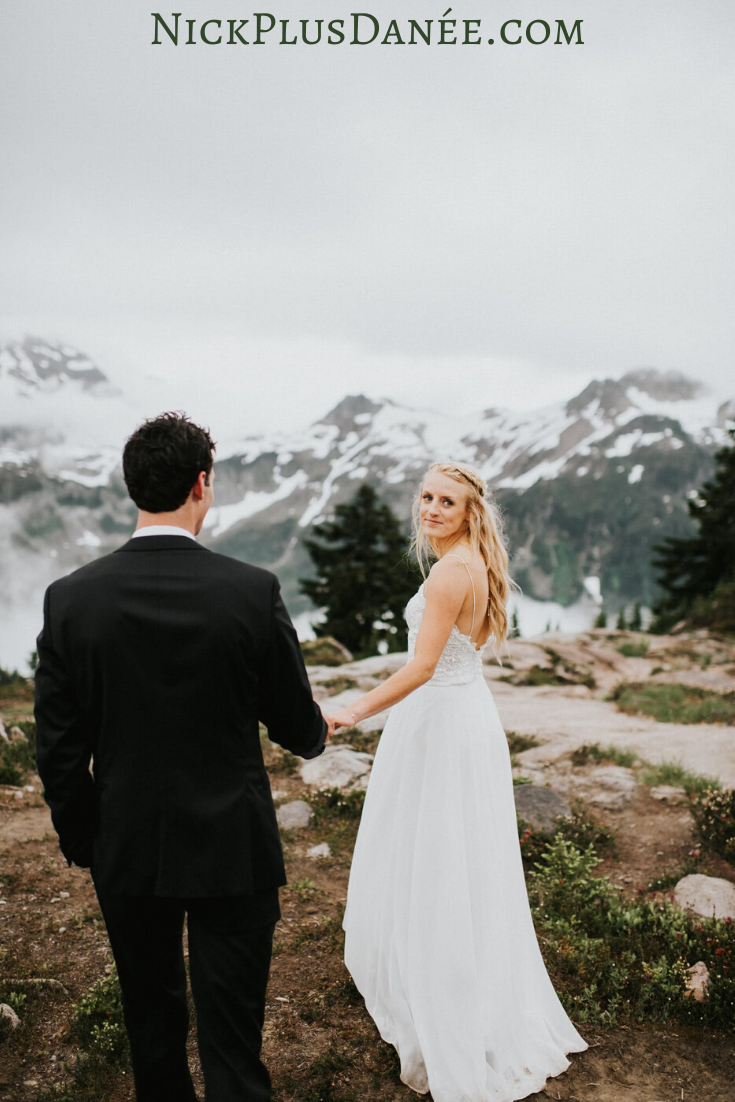 Powerful Foggy North Cascades Intimate Wedding 1 Nick