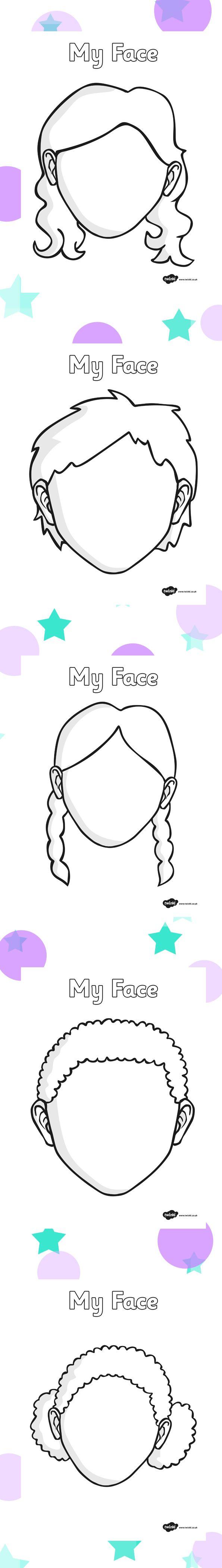 Blank faces - twinkl … | faaliyet | Pinterest | Vorschule, Mein ...