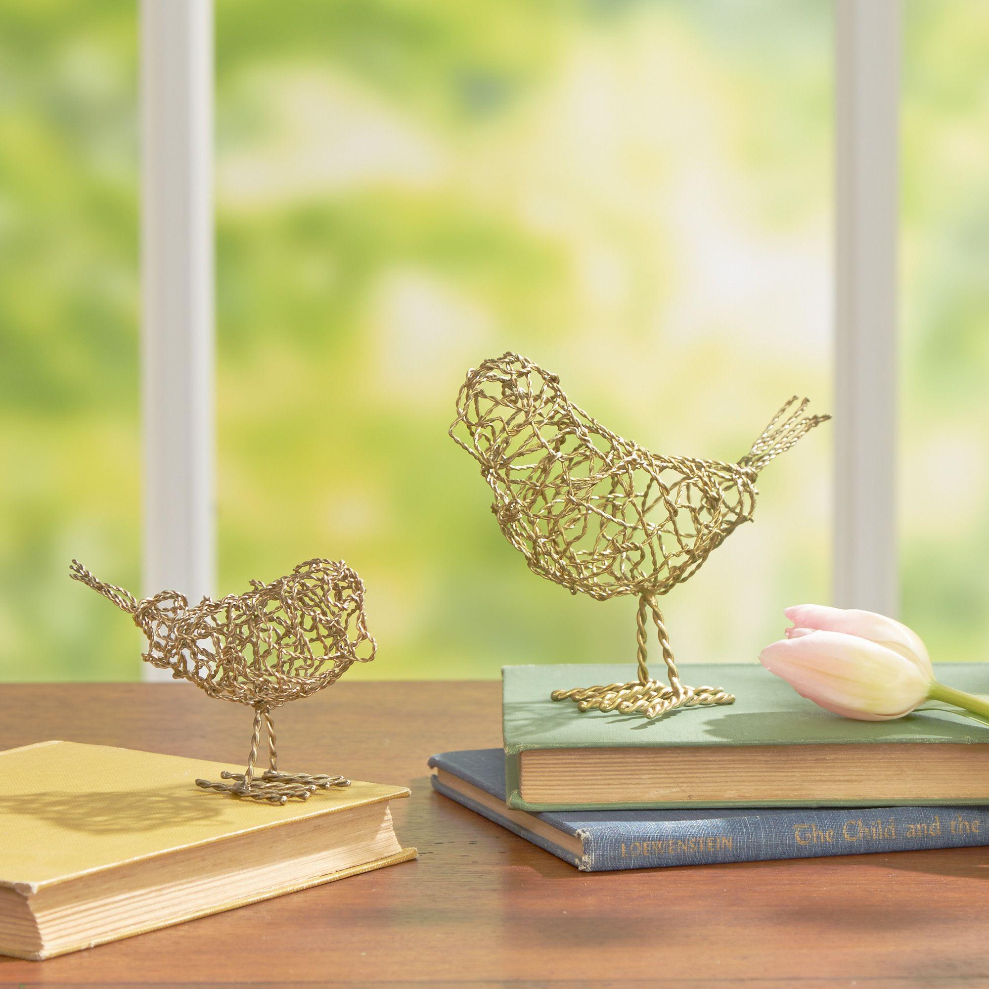 Birch Lane Traced Bird Decor, Brass & Reviews   Wayfair