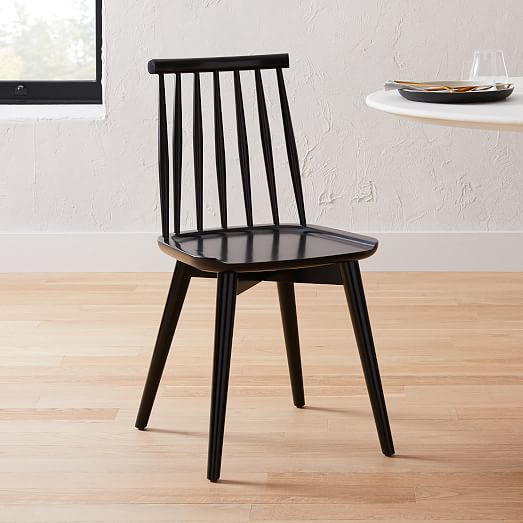 Windsor Dining Chair Black Set Of 2 West Elm In 2020 Windsor Dining Chairs Dining Chairs Stacking Dining Chair