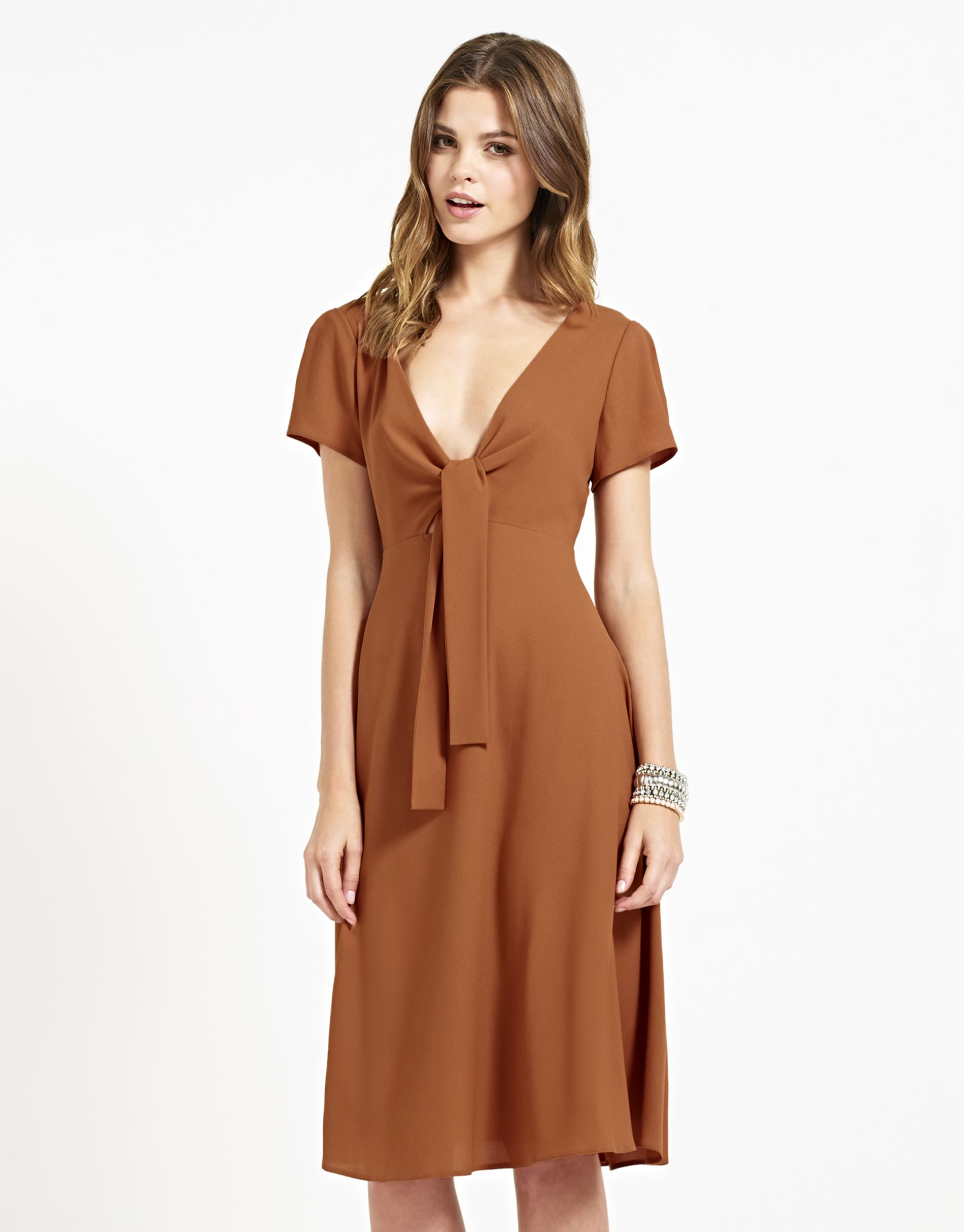 Love bow front shift dress burnt orange aw must have colour