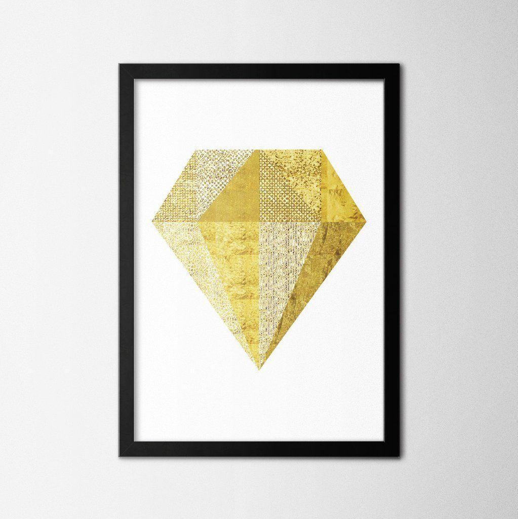 Gold diamond northshire metal wall art metal wall