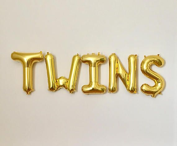 Twins Gold Letter Balloons Its Twins Balloon Prop Baby Sweet