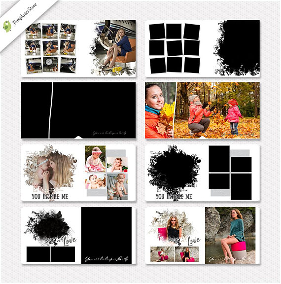 12X12 10 spread (20 page), 12x12 Photo Book Album Template