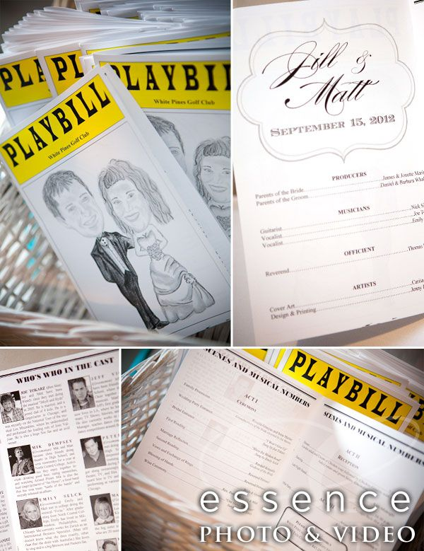 Doing This For My Wedding The Theatrical Playbill Program Idea