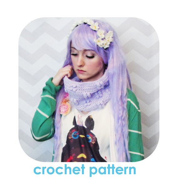 Sweet and adorable puffy crochet cowl - PDF crochet pattern - INSTANT DOWNLOAD