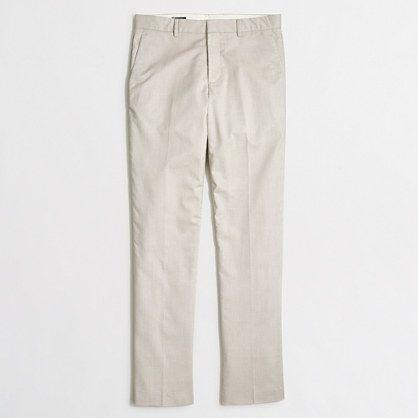 Factory slim Thompson suit pant in flex cotton - Thompson Suits -Men - J.Crew Factory