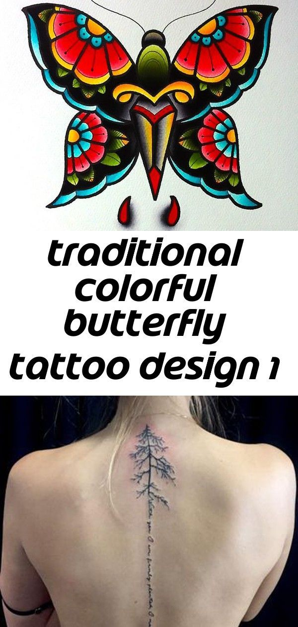 Photo of A strong image of a butterfly in a diversity of colors makes this tattoo unique….