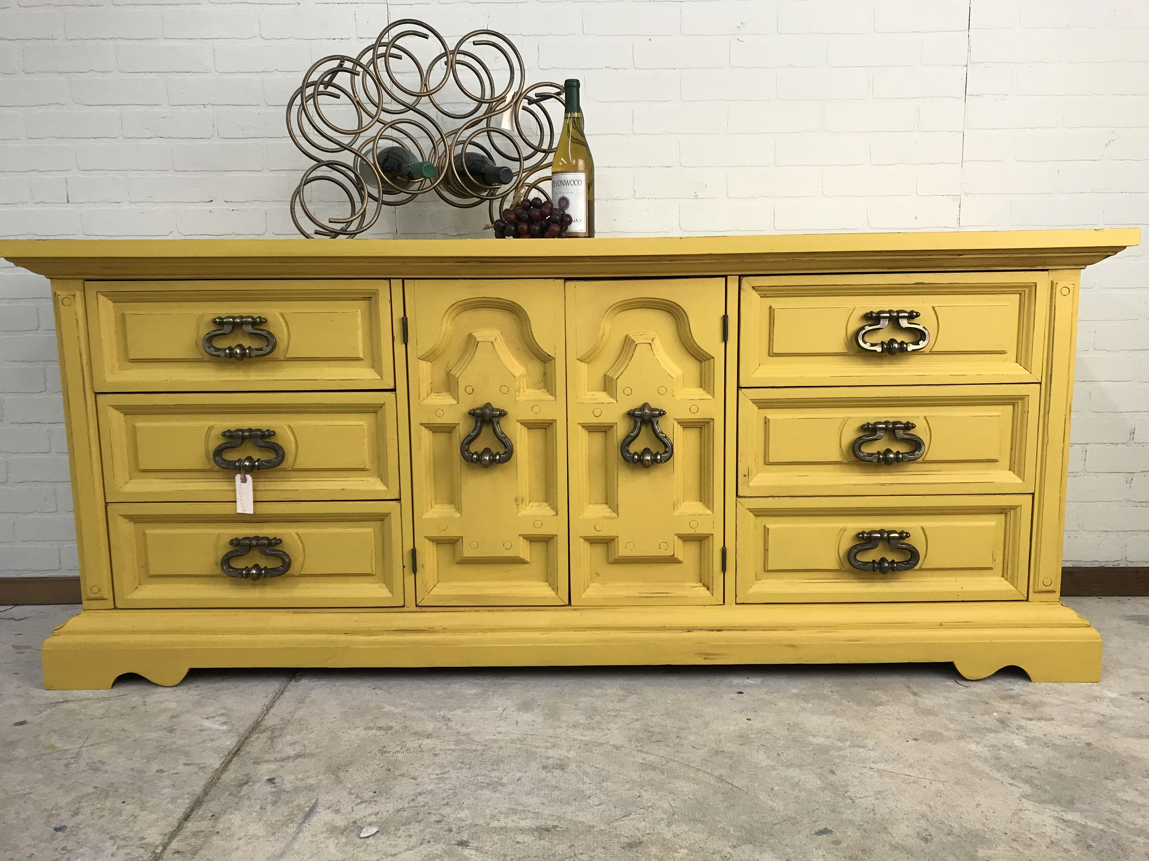 Chunky 70 S Mediterranean Style Dresser Painted By Panther Creek