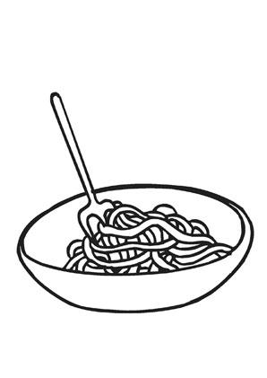 ausmalbild spaghetti zum kostenlosen ausdrucken und ausmalen. ausmalbilder   malvorlagen  