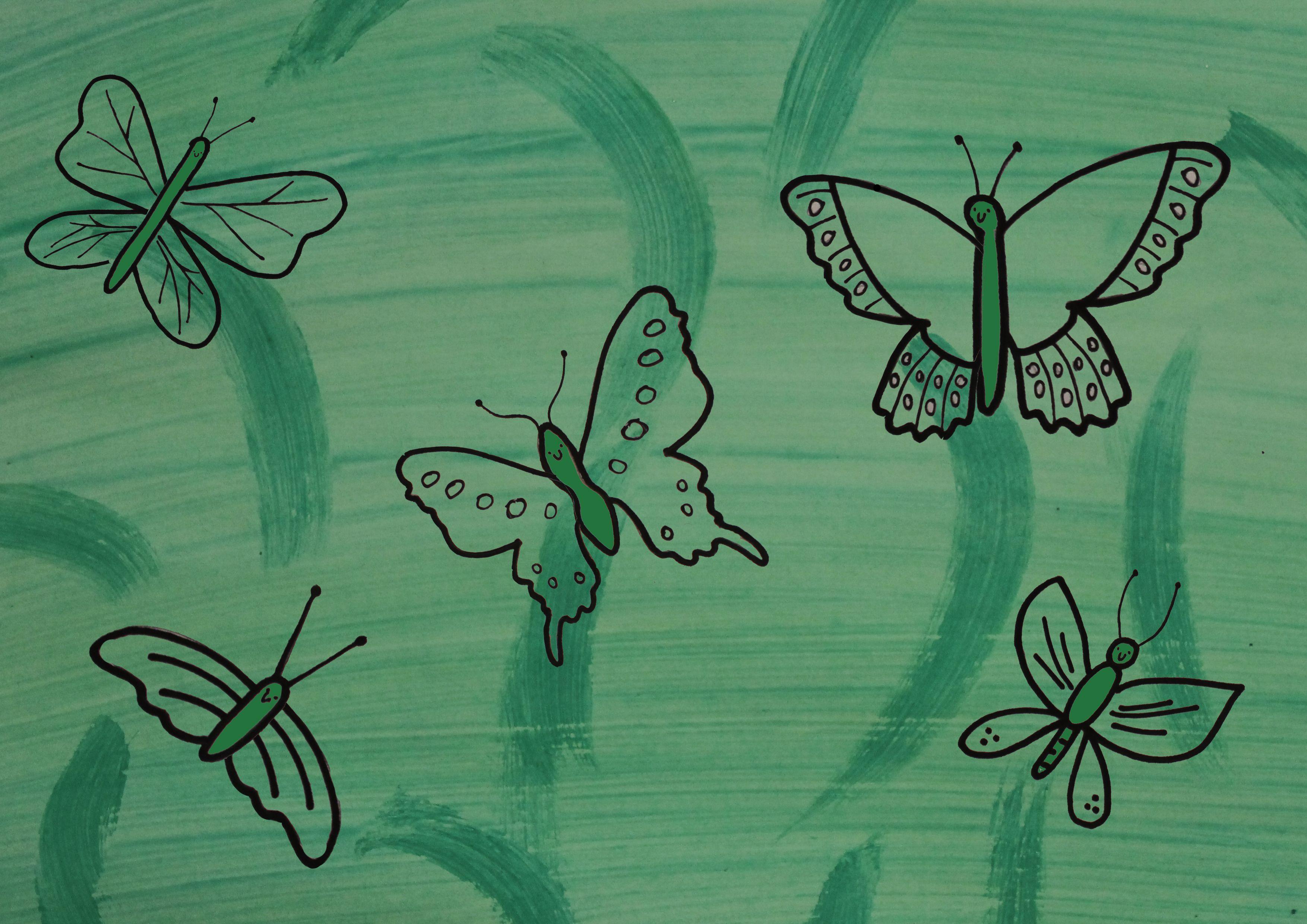 Butterfly Play Dough Mat
