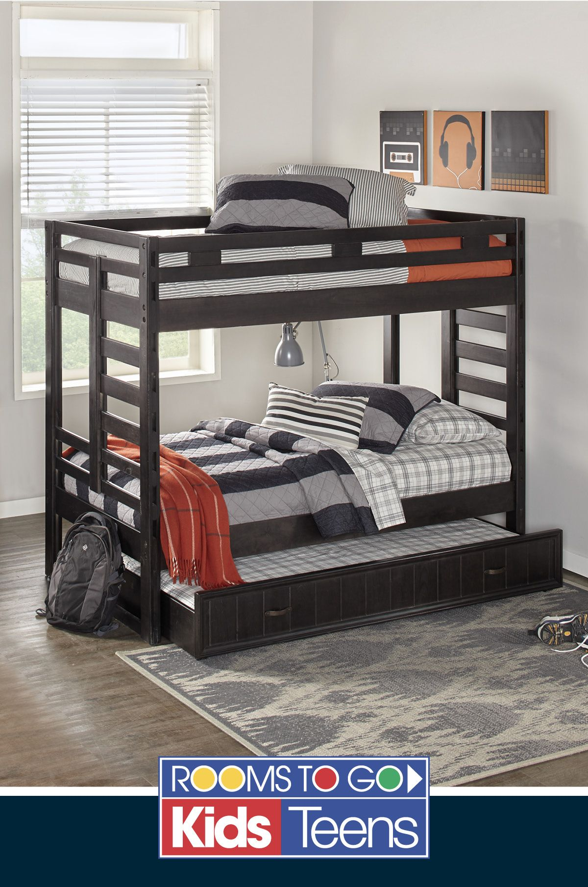 Creekside Charcoal Twin Twin Bunk Bed Pinterest Bunk Bed Spaces