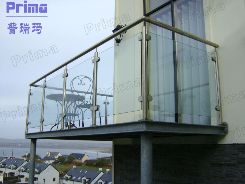 Best Stainless Steel Frame Toughened Glass Balustrade For 640 x 480