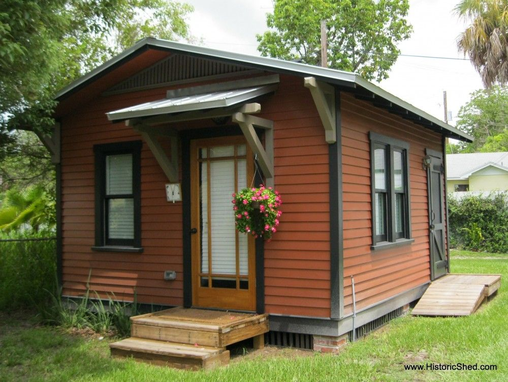 Small prefab cottage tiny house designs with traditional for Small backyard cabin