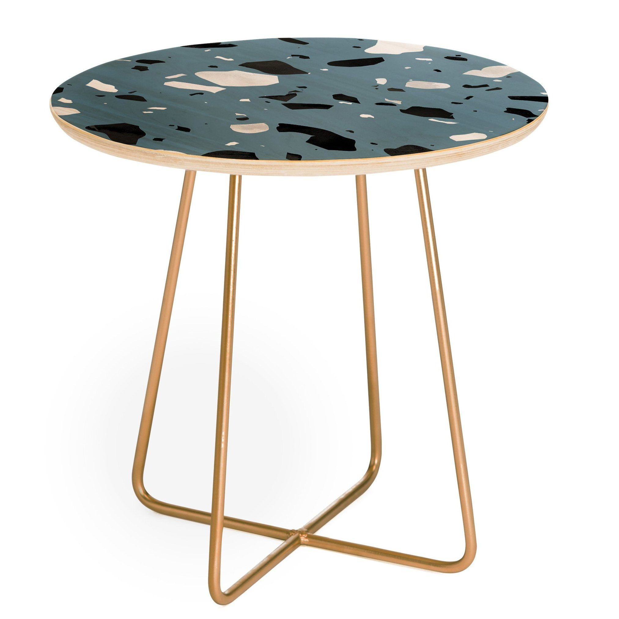 East Urban Home Mareike Boehmer Terrazzo Round End Table Wayfair End Tables Contemporary End Tables Table