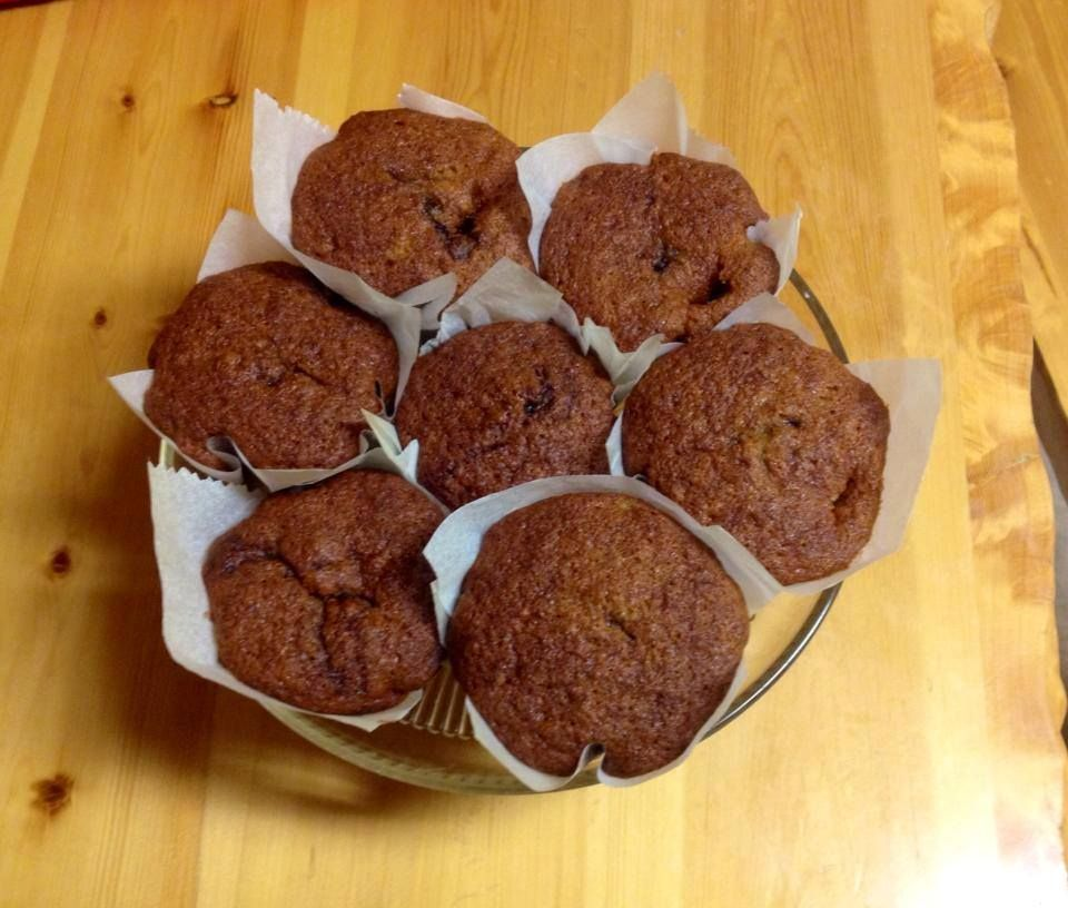 Muffins de Platano con nutella (Any Gonzalez)