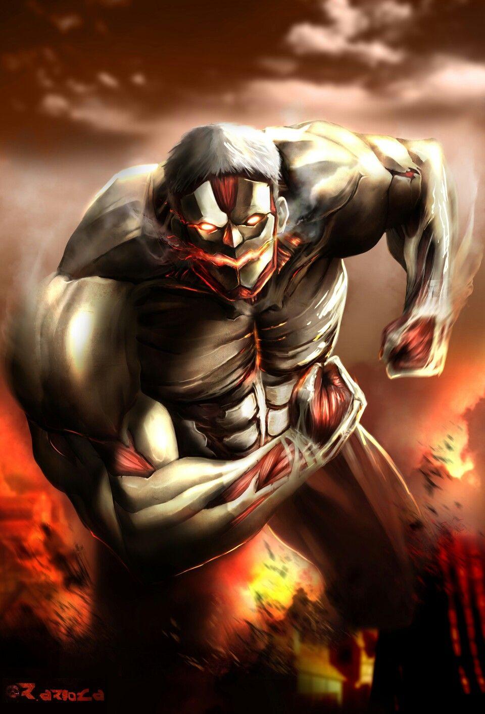 Armoured Titan | Titan armor, Attack on titan anime, Titans