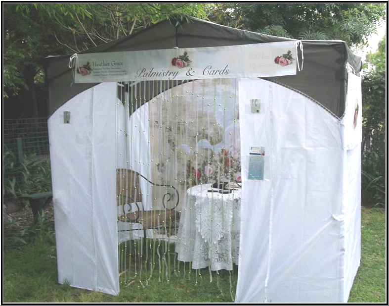 my tea tent that i use for charity psychic fairs originally an oz trail deluxe