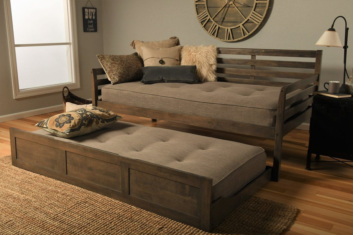 Varley Daybed with Trundle and Mattress Twin daybed with