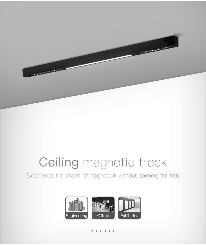 1m Aluminum Ceiling Embedded Pendant Surface Mounted 3 Install Methods Usky Led Lamp Holder Led Strip Lighting Cement Diy