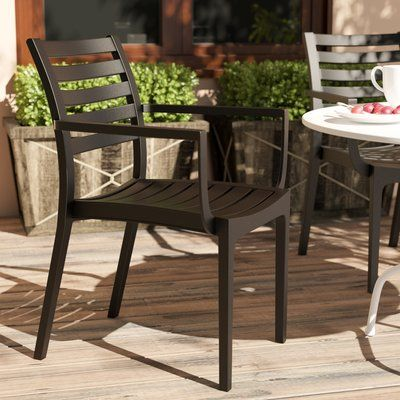 Magnificent Wrought Studio Mcintosh Stacking Patio Dining Chair Lamtechconsult Wood Chair Design Ideas Lamtechconsultcom