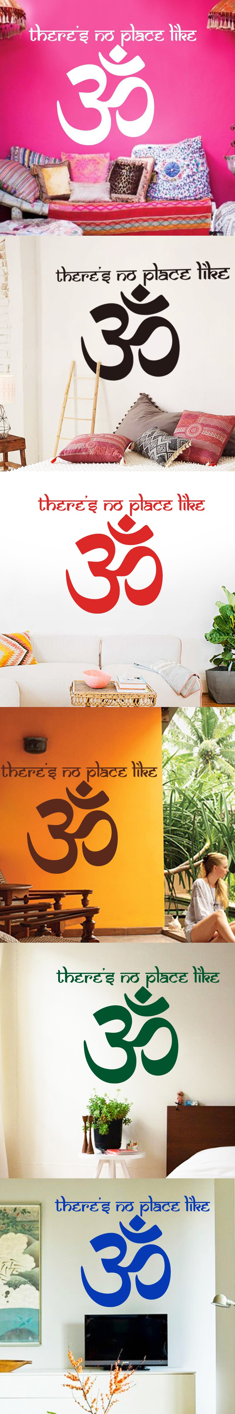 Om Shanti Om Symbol Hinduism Vinyl Wall Sticker Yogs Namaste Home Decoration  Decals Indian Peace Stickers