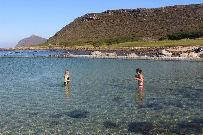 Me and my sister swimming in a tide pool in cape town :)