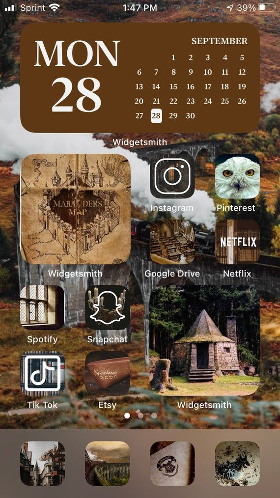 Harry Potter Aesthetic IOS 14 Icons Pack