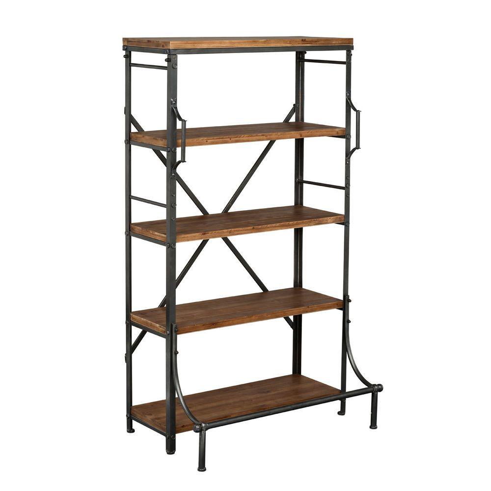 Industrial Metal Kitchen Shelves: New Foundry 5 Tier Metal Shelf Unit Storage Solutions